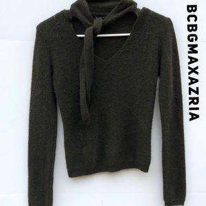 BCBGMaxazria Forrest Green Cashmere Sweater